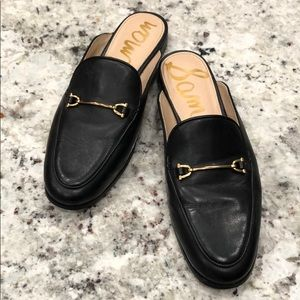 Sam Edelman Black Leather Lounette Mules